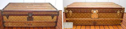 Louis Vuitton Cabin Trunk  Circa  1900 Vuitton Woven monogram canvas stain removal