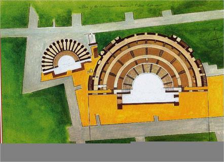Pianta del Teatro greco e dell'Odéon