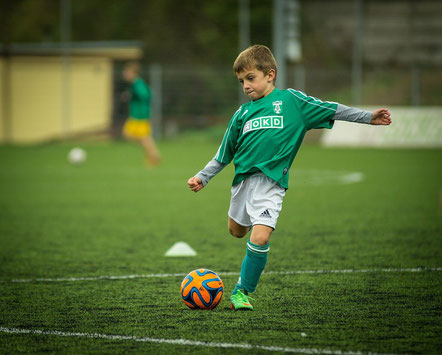 Kinder, Fußball, Spielen, Kick, Fußballspieler, Kugel, Ball