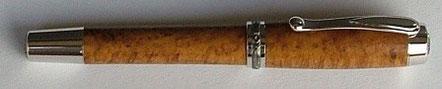 Füller aus Teak Burl Holz
