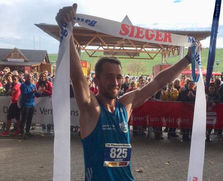 Magdeburg-marathon-Sieger Robert Linz. Foto: Alpha-Report