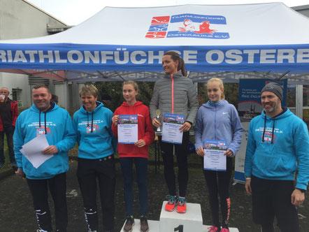 Frauke Neumann (Grieben) ist die Siegerin des 35. Altmarklaufs (5500 Meter) in Osterburg. Foto: Alpha-Report