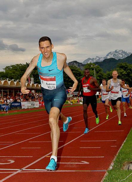 Salzburg-Rif war immer ein guter Boden für Andreas Vojta. Hier bei seiner 800m-Bestzeit (1:46,59) im Jahr 2013