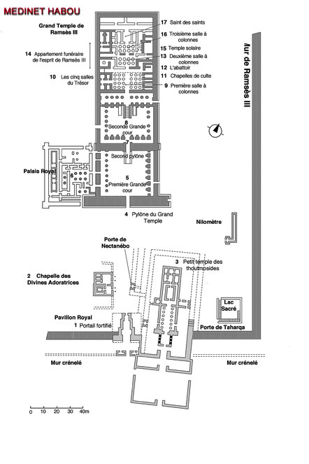 Medinet Habou - Ramsès III - Thèbes-Ouest - Egypte