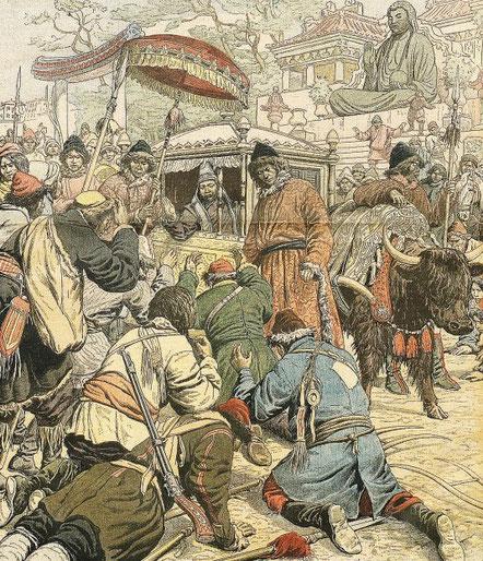 20 novembre 1904. Dalaï-lama en fuite. Le Petit Journal, Supplément illustré, et la Chine  1890-1913, 1921-1931.