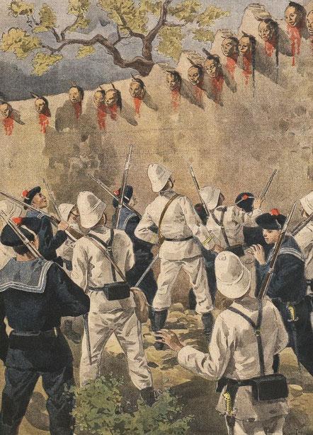 4 novembre 1900. Têtes de Boxers. Le Petit Journal, Supplément illustré, et la Chine  1890-1913, 1921-1931.