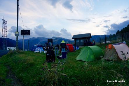 Une partie du site d'observation au Col de Mantet (66)