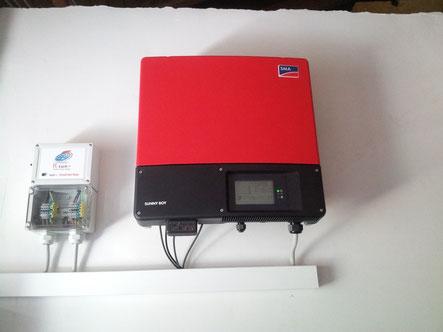 Die kleinste sun+ box - die inverter box hier mit SMA Wechselrichter.