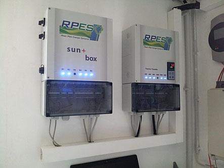 sun+ box mit 6-stufiger Ansteuerrung eines Heizstabes (hier für RPES)
