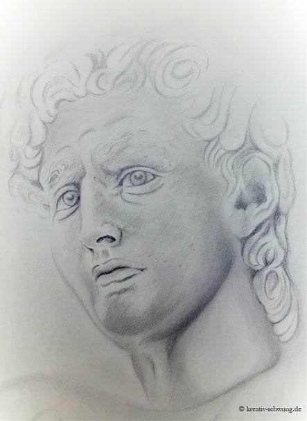 David, nach einer Vorlage von Michelangelo, 2019
