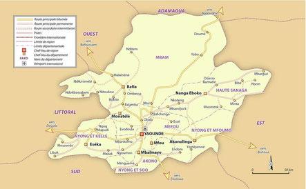 La Province du Centre avant les réorganisations administratives de 1992 et de 1995