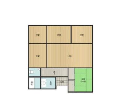 床下面積30坪の住宅の図面
