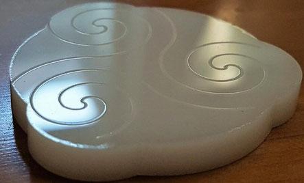 white acrylic laser engraved