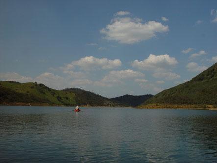 - kayakken op het meer van Santa Clara -