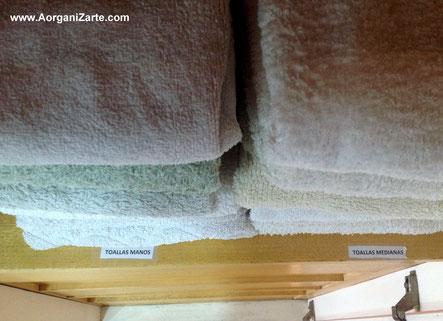 toallas organizadas - www.aorganizarte.com