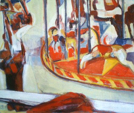 Karussell 13  70 x 80 Öl Lw 2007