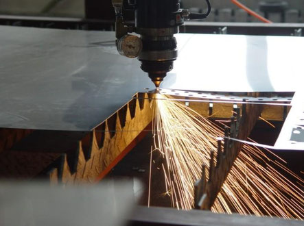 Cutting stainless steel on work table