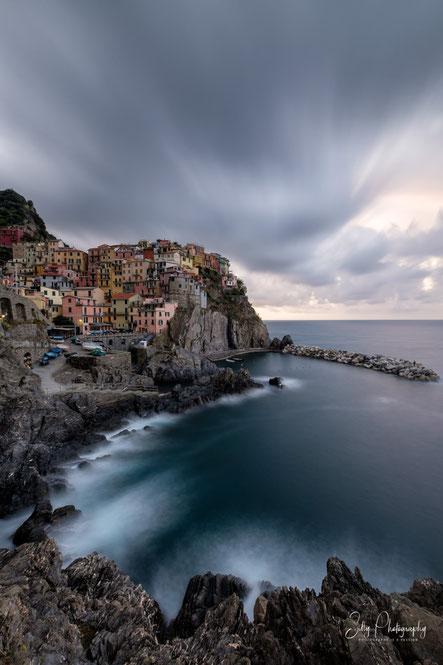 Italien / Cinque Terre / Manarola, Langzeitbelichtung, 2019, © Silly Photography