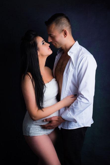 zwangere vrouw met partner