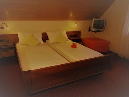 Doppelzimmer im Landgasthof Bieger in Franken