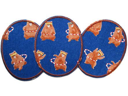 Knieflicken zum aufbügeln für Kinder mit Bären, Hosenflicken im Set