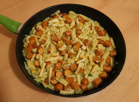 Pastinakenrezept - Veganes Winterrezept - Pastinaken-Tofu-Pfanne
