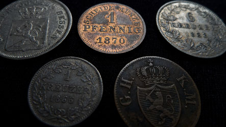 Einige Kleinmünzen aus Hessen-Darmstadt