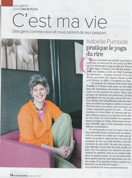 C'est ma vie -  Plus magazine - article