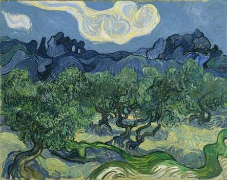 Vincent van Gogh: Landschaft mit Olivenbäumen