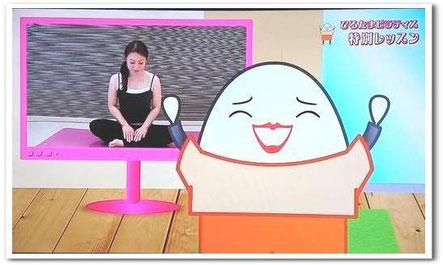NHKひるたまキャラクターの昼田真子ちゃんとわたくしです。どっちもたまご!?