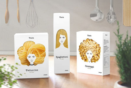 Imagen packaging Hair Pasta by Nikita Konkin