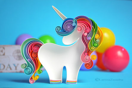 quilling , art, paper art, quilling paper art, animals quilling art, quilling paper unicorn , quilling unicorn, sweet dreams, kids art, quilling kidsroom, paper,  quilling wall art, artwork, квиллинг, Larissa Zasadna, Лариса Засадная, Квиллинг бумага