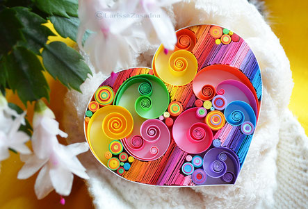 quilling , art, paper art, quilling paper art, heart quilling art, quilling paper heart , quilling love art, sweet dreams, love art, quilling wall art, paper,  quilling wall art, artwork, квиллинг, Larissa Zasadna, Лариса Засадная, Квиллинг бумага