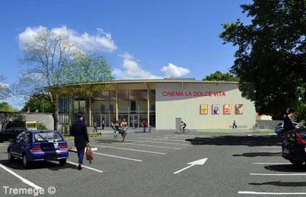 Un aperçu du nouveau cinéma La Dolce Vita. La livraison du nouveau centre culturel  à Andernos est attendue en 2019. Photo DR