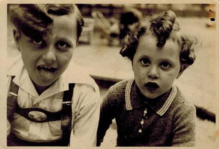 Manfred und Hermi Goldberg im Jahre 1938