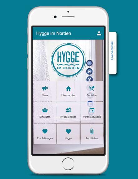 Layout der Hygge im Norden App