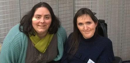 La correctrice et biographe Laetitia Piquet et l'illustratrice auteur Cloé Perrotin au Printemps du Livre 2018 de Lamotte-Beuvron