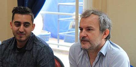Les comédiens Laurent Savard et Jerem Freitas au Salon du Livre du Forum Culturel de la Différence de Crépy-en-Valois 2017