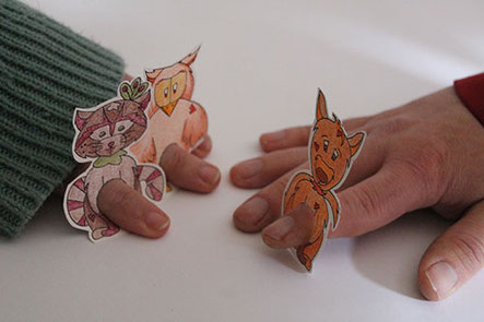 Les papertoys gratuits de marionnettes de doigts d'animaux créés par l'illustratrice Cloé Perrotin
