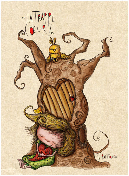 L'illustration de la trappe coeur de Nac l'artiste de La Rafistolerie via le site de Cloé Perrotin