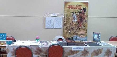 Le stand du BDiste Guillaume Delacour au Forum Culturel de la Différence de Crépy-en-Valois 2017