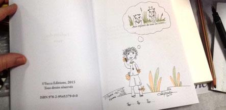 Dédicace en cours de l'illustratrice Cloé Perrotin du livre Enfants des Rues paru chez Yucca Edition au Salon du Livre de Saint-André-en-Morvan
