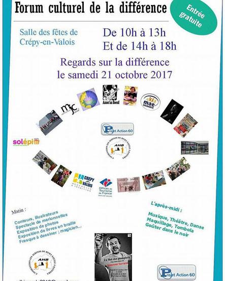Affiche du Forum Culturel de la Différence de Crépy-en-Valois 2017