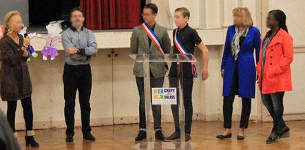 Discours des élus du Conseil des Jeunes, des élus de la Mairie de Crépy-en-Valois et des Associations Projet Action 60 et l'association les Albinos de Hema Nayélé à Banfora