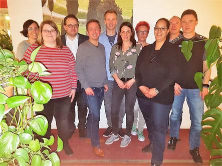 Die neu gewählten Vorstandsmitglieder der SG Nellingen