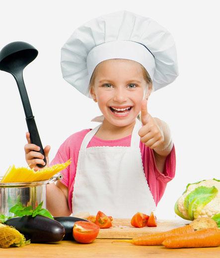 Kinder kochen mit viel Spaß