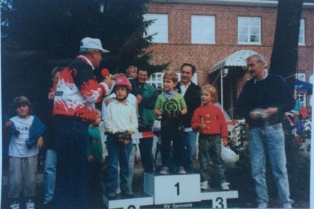 Vom 2. Platz bei meinem ersten Radrennen (1995)...
