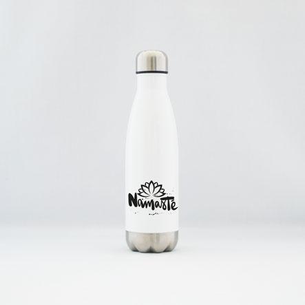 """Trinkflasche / Thermoflasche aus Edelstahl """"gönn dir"""""""