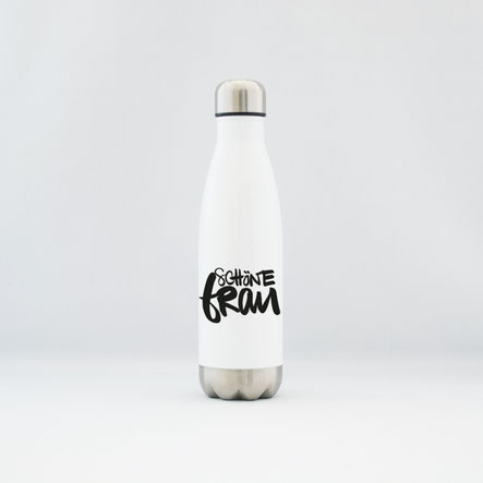 """Trinkflasche / Thermoflasche aus Edelstahl """"schöne Frau"""""""