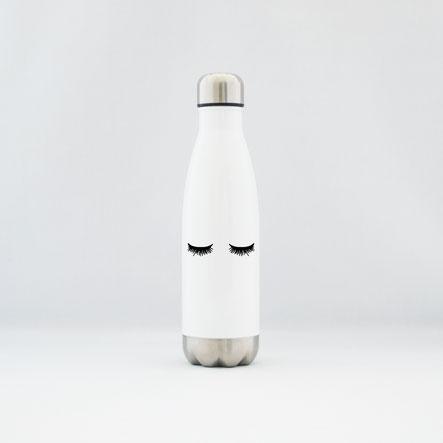 """Trinkflasche / Thermoflasche aus Edelstahl """"sleepy eyes"""""""